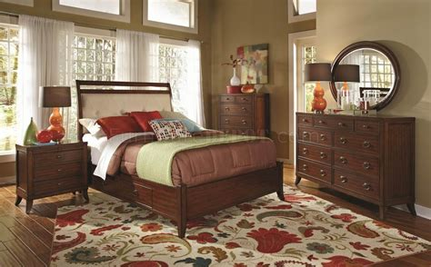 rich cherry finish ortiz modern bedroom woptions  coaster
