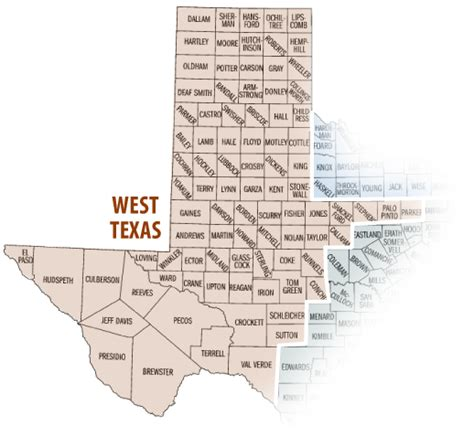 map of west texas counties west texas images