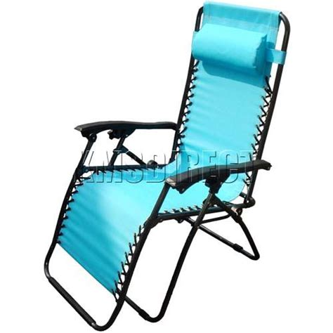 reclining sun chair sblue textoline zero gravity garden foldable recliner sun