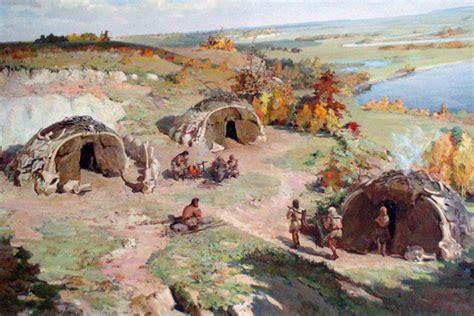 Hutte En Os De Mammouth by Le Site 224 Cabanes En Os De Mammouths De Gontsy Ukraine