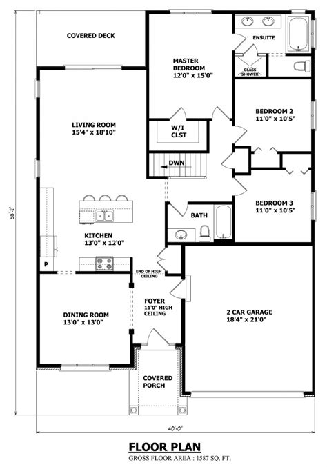 custom bungalow floor plans house plans canada stock custom