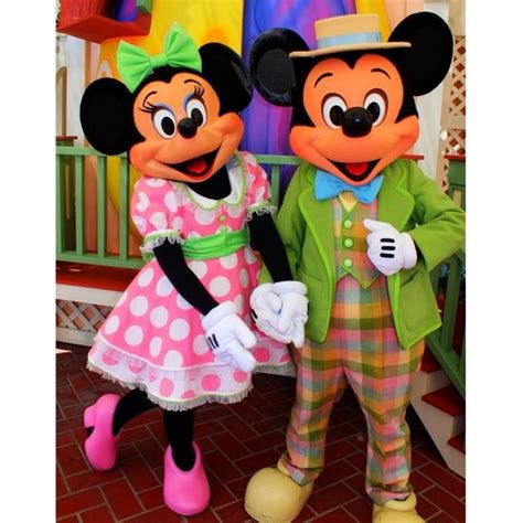 mickey and minnie in their easter best disney