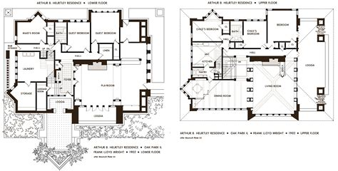 frank lloyd wright frank lloyd wright house floor plans frank lloyd wright s oak park illinois designs the