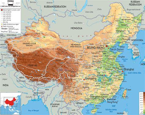 political map of china ezilon maps physical map of china ezilon maps