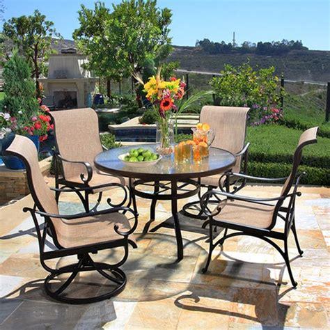patio furniture santa santa barbara sling dining collection by alu mont for hanamint