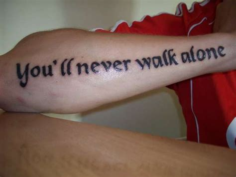 you ll never walk alone tattoo school of science