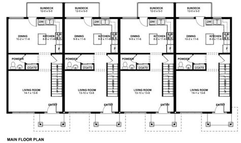 family home plans multi family plan 99988 at familyhomeplans