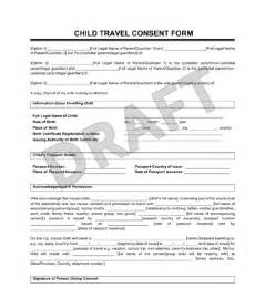 Authorization Letter For Child Travel Mexico child travel consent form create a letter of consent