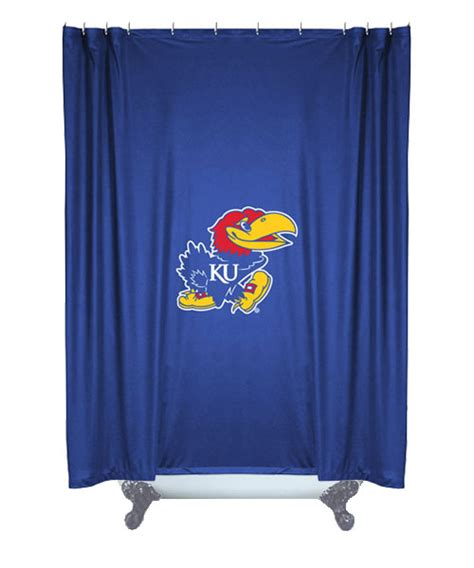 college curtains ncaa kansas jayhawks college bathroom accent shower curtain