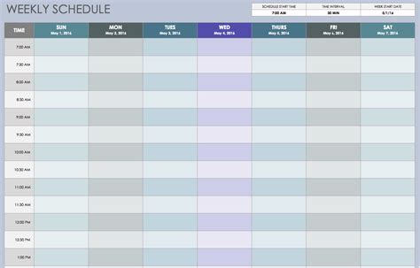 free shift schedule planner template