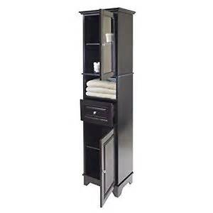 Towel Storage Cabinet Black Linen Cabinet Storage Tower Bathroom Laundry
