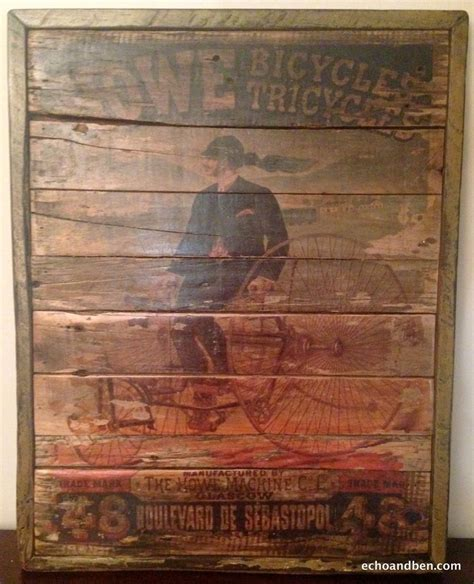 reclaimed wood vs new wood howe bicycle manufacturing vintage style sign on reclaimed