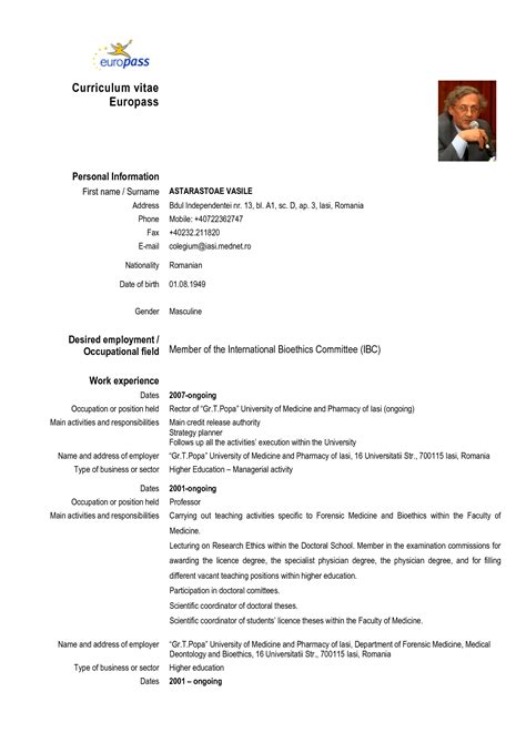 Curriculum Vitae Sle European Format Dental Resume In Sales Dental Lewesmr