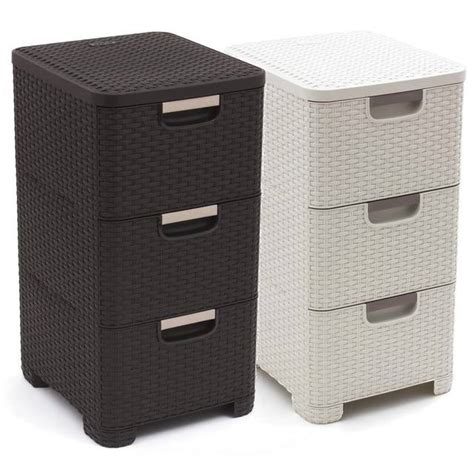 3 drawer wicker storage tower unit free uk postage 3 drawer curver style rattan style tower