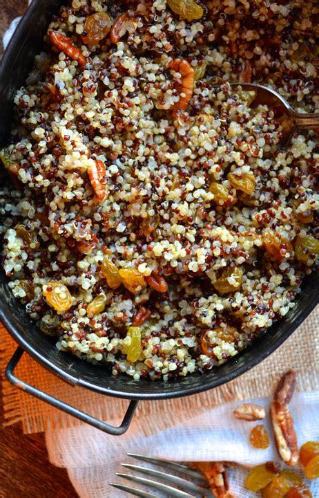 tri color quinoa tri color quinoa with golden raisins pecans ciao chow