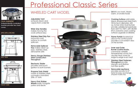 Backyard Classic Professional Grill Manual by Evo 30 Quot Professional Classic Grill On Cart