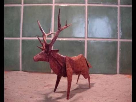How To Make A Paper Deer - origami roosevelt elk deer
