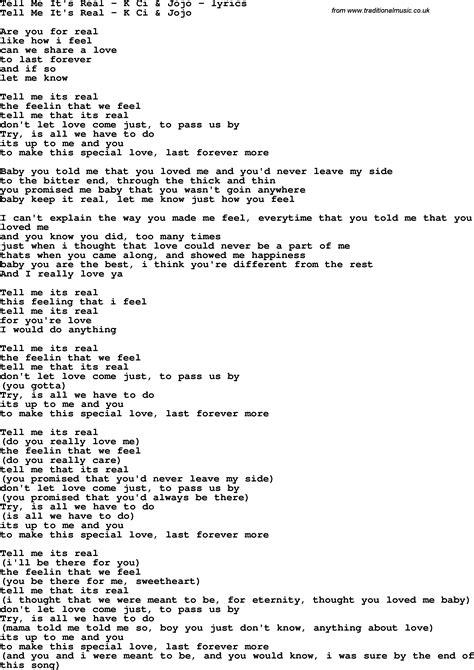 k lyrics song lyrics for tell me it s real k ci jojo
