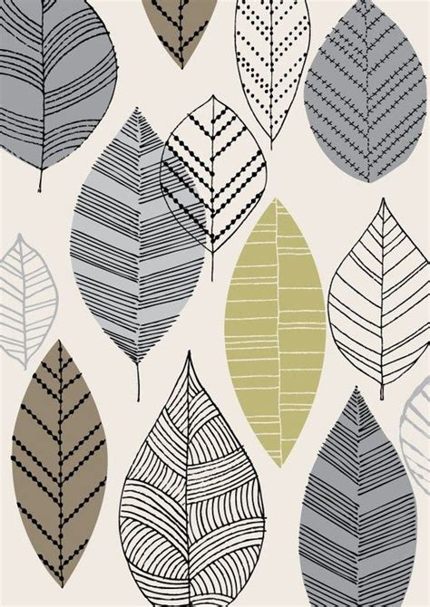 pattern design ltd autumn leaves natural limited edition giclee print