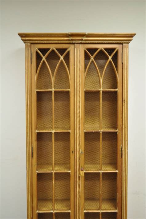 Antiqued And Distress Finished Italian Bookcase In The Italian Bookshelves