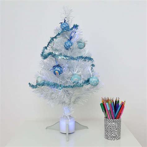 galaxy 60cm fibre optic tree 60cm frozen white fibre optic tree