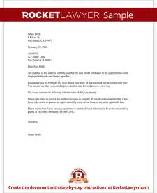 Rent Complaint Letter Complaint Letter To Landlord Template With Sle