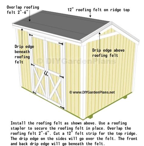 Shed Roof Drip Edge by Jakes Free Saltbox Garden Shed Plans