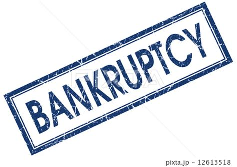 jp bankruptcy bankruptcy blue square grungy st isolated on white