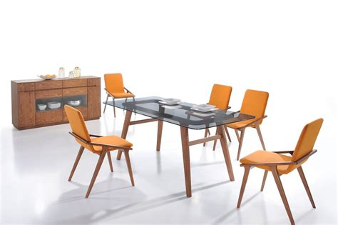 orange dining room sets zeppelin modern orange dining chair set of 2 dining