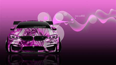 wallpaper 4k neon bmw m4 tuning front anime boy aerography car 2016