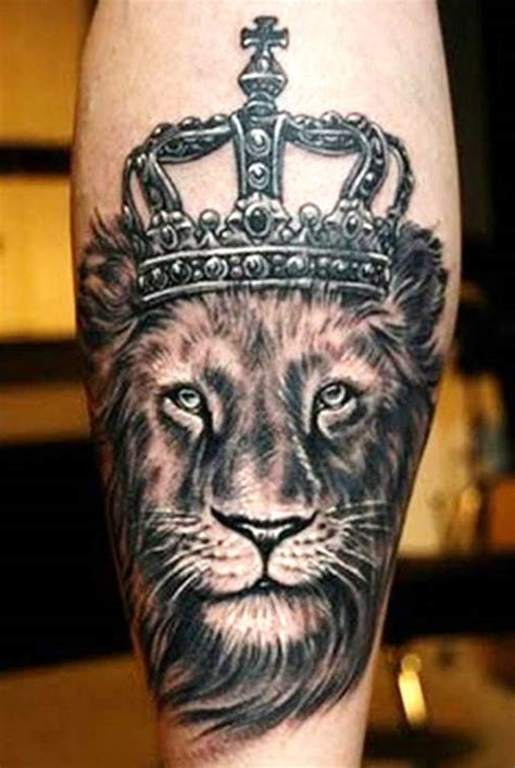 lion with crown tattoo design king designs for