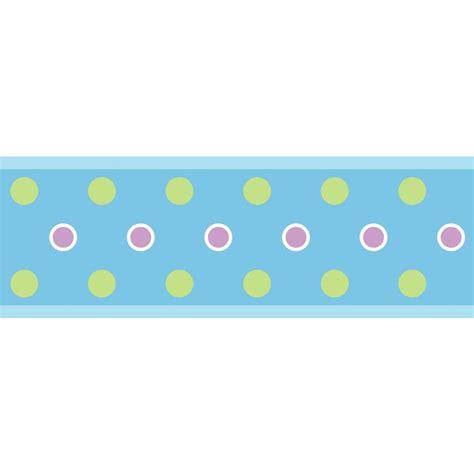 peel and stick dot peel and stick border blue
