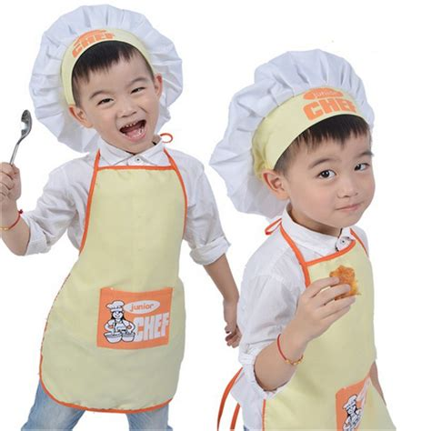 what to buy a chef aliexpress com buy polyester kids apron and chef hat