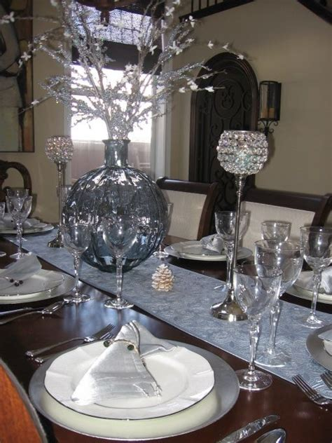 argento black accent table blue silver dining table decor table setting