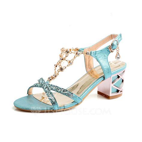 Chunky Heel Peep Toe Sandals s leatherette chunky heel sandals pumps peep toe