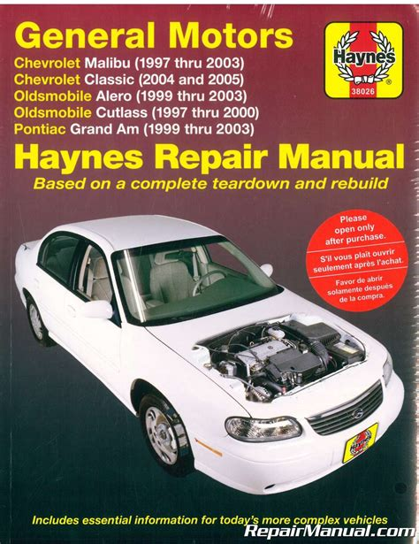 best car repair manuals 2004 pontiac grand am free book repair manuals haynes gm chevrolet oldsmobile alero cutlass and pontiac grand am 1997 2003 auto repair