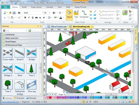software map drawing free 3d directional map software