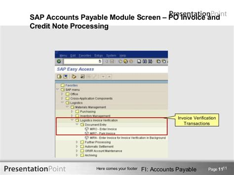 sap tutorial for accounts payable accounts payable training 3