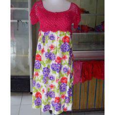 Benang Rajut Katun Bali Coral 62 baju rajutan anak model rompi putih tinggi 36cm lingkar dada 49cm lingkar lengan 18cm bahan