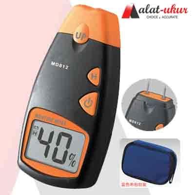 Moisture Meter Digital Alat Ukur Kelembaban Kayu alat ukur kayu moisture meter md812 2 pins