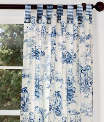 how to make tab top curtains with buttons lenoxdale toile button tab curtains with laurel check but