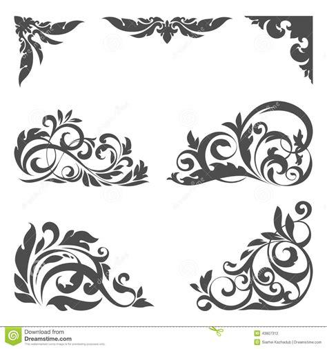 floral design elements vector set set of floral elements for design stock vector image