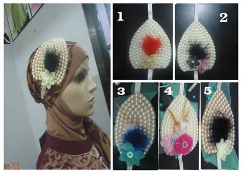 Kaos Kaki Headband Bulu bross kerudung cantik kain perca