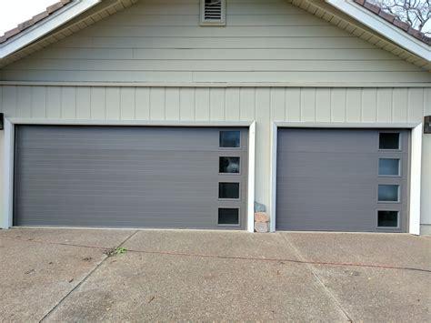 Steel Garage Entry Doors Modern Garage Door Installation With Side Windows Solutions