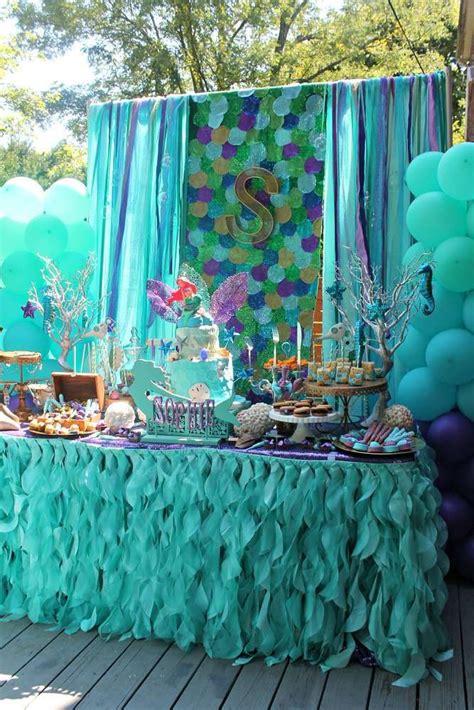 mermaids ariel birthday ideas mermaid birthday dessert table and mermaid