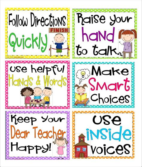 printable poster classroom rules whole brain teaching 6 simple rules a free pack whole