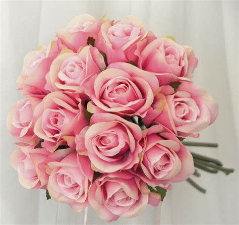 Premade Wedding Bouquets by Silk Wedding Bouquet Pink Pre Made Posy Bouquets