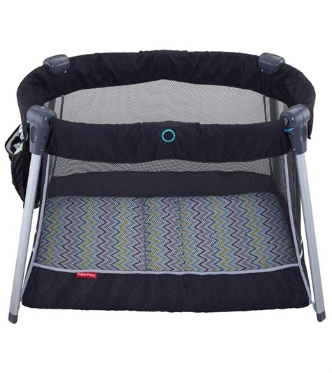 Fisher Price Travel Crib by Fisher Price Ultra Lite Day Play Yard Chevron Fusion