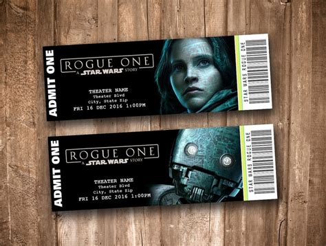 printable star wars movie tickets star wars rogue one collectible movie tickets