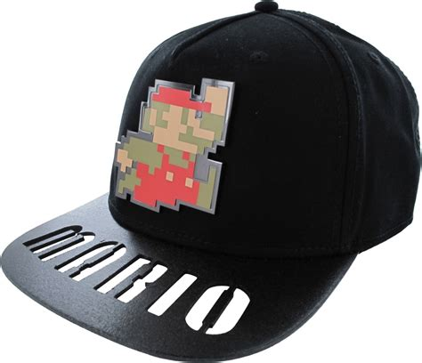 mario 8 bit cut out name bill snapback hat